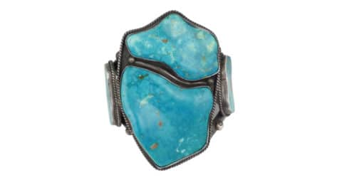 Mark Chee Turquoise Cuff, ca. 1950, offered by Shiprock Santa Fe