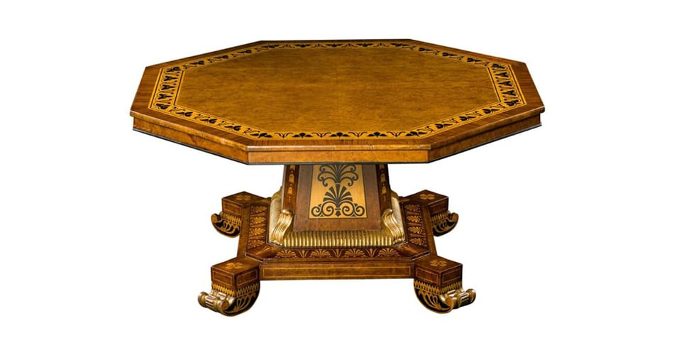 Regency Octagonal Center Table, Ca. 1820, Offered By Hyde Park Antiques. U201c