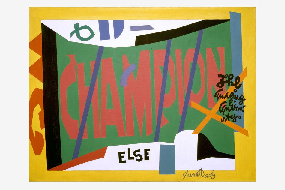 The Jazzy Paintings of Stuart Davis Are Still Swinging