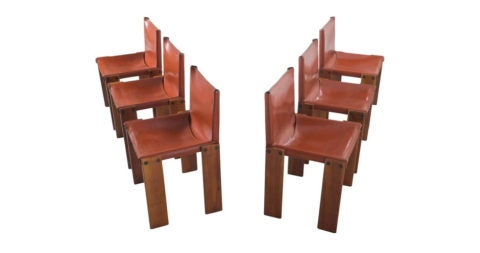 Arfa & Tobia Scarpa Monk chairs, 1960s, offered by Morentz