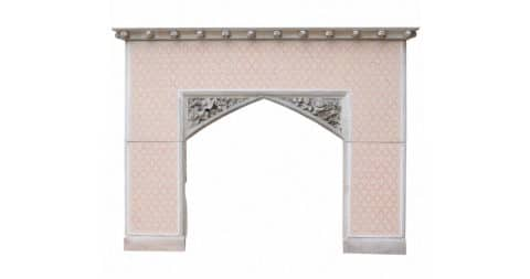 Gothic Revival fire surround, ca. 1860, offered by UK Heritage