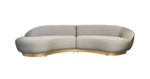 Milo Baughman sofa, 1990, offered by Modern Drama