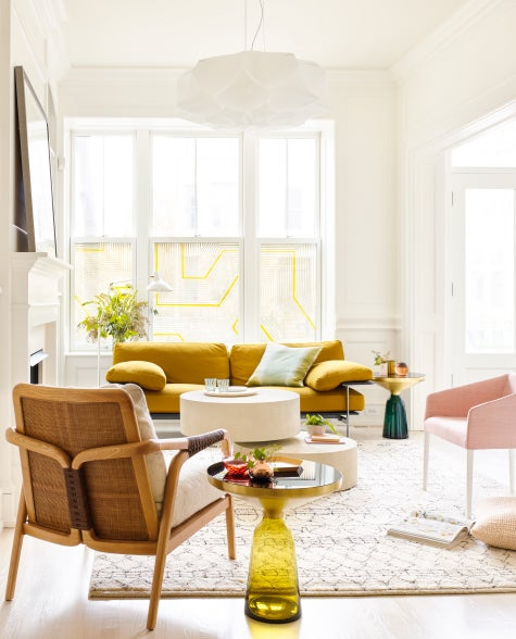 In Another Corner Of The Lincoln Park Living Room, A Knot Chair (foreground  Left) By Baker Knapp U0026 Tubbs Keeps Company With A Pivot Coffee Table From  ...