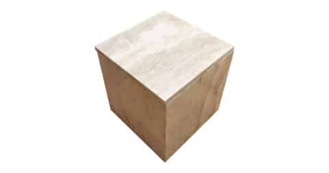 Travertine end table, 1974, offered by Revival