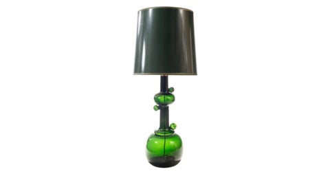 Table lamp attributed to Michael Bang for Holmegaard, ca. 1980, offered by H.M. Luther