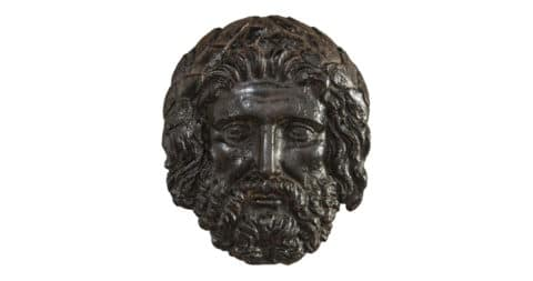 Continental iron mask of Zeus, ca. 1800, offered by H.M. Luther
