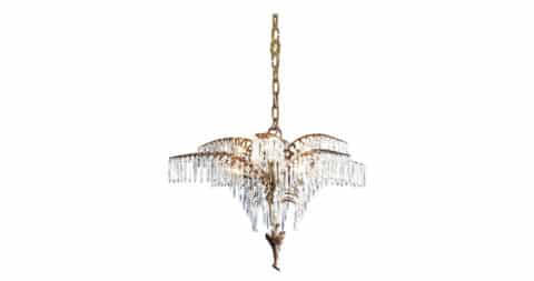 Josef Hoffmann Palmetto chandelier, 1918 (contemporary reedition), offered by Woka