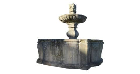 Ceremonial stone fountain, 17th century