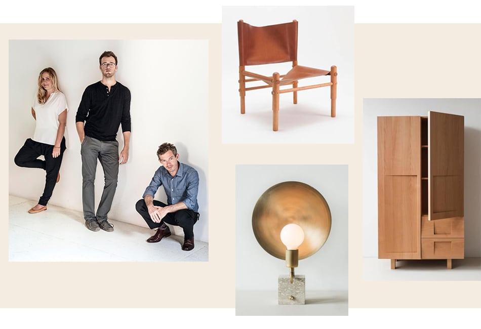Clockwise From Left: Stefanie Brechbuehler, Robert Highsmith And Ryan  Mahoney, Of Workstead (portrait By Matthew Williams); Sling Chair; Wardrobe  In Beech ...