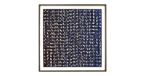 Untitled abstract Op art print, undated, offered by Lions Gallery