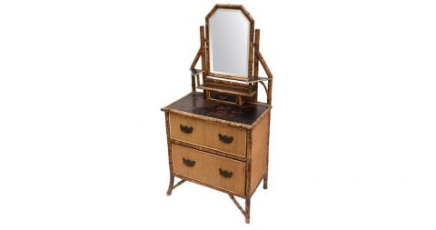 Bamboo dresser, 1890s, offered by Elena Bremmer's Cherry Pickings