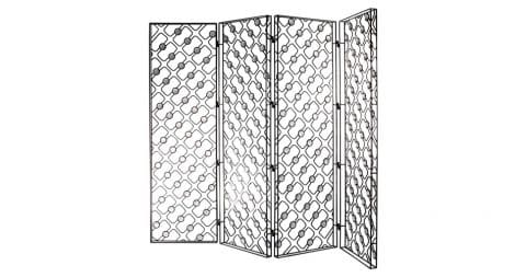 Standing iron-and-glass oblique screen, 2003
