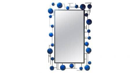 Blue enamel mirror, 2016
