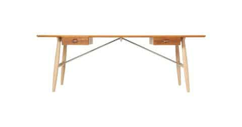 Hans Wegner architect's desk, designed 1950s, produced 2013, offered by Wyeth