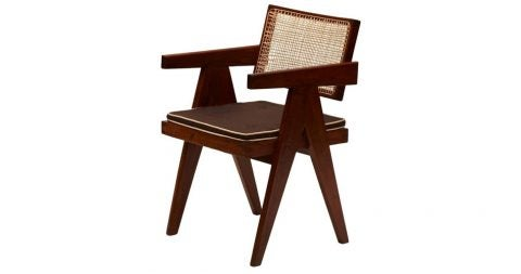 Le Corbusier and Pierre Jeanneret desk chair, ca. 1955, offered by Maison Gerard