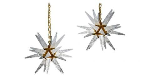 Alexandre Vossion rock-crystal star chandeliers, 2017, offered by Alexandre Vossion