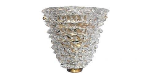 Barovier e Toso Murano Rostrato glass sconces, 1960s, offered by Fabio Ltd.