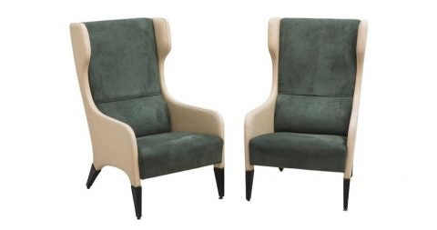 Giò Ponti armchairs, ca. 1964, offered by Todd Merrill Studio