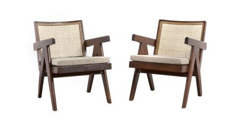 Pierre Jeanneret Easy armchairs, 1955–56