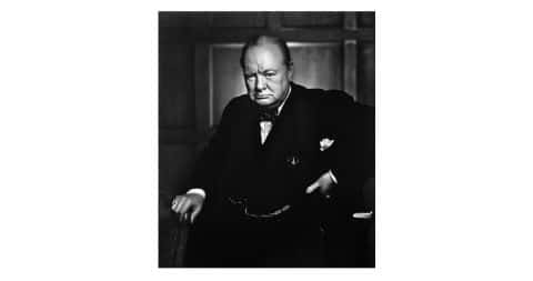<i>Winston Churchill,</i> 1941, by Yousuf Karsh, offered by Weston Gallery