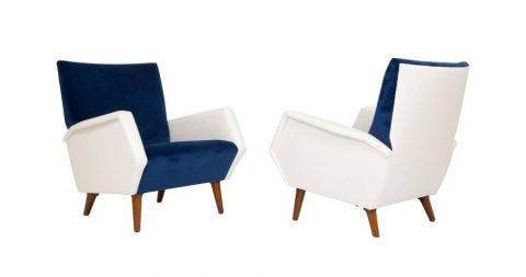 Giò Ponti armchairs, 1960s, offered by 88 Gallery