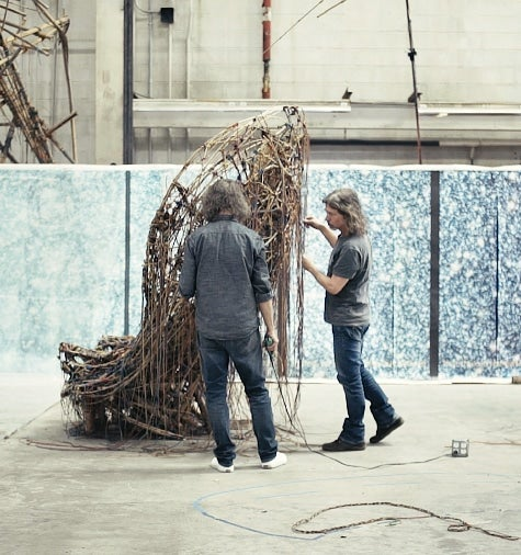 The Starn Brothers' Warehouse-Size Studio Is Bursting with Bamboo