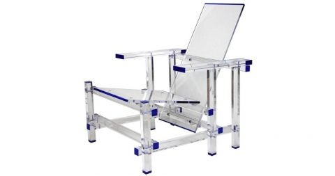 Invisible lounge chair inspired by Gerrit Rietveld, late 20th century, offered by Mars Palm Beach Estate Holdings