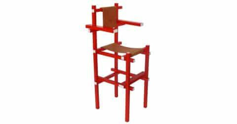 Gerrit Rietveld for Gerard van de Groenekan high chair, ca. 1918, offered by Kunstconsult