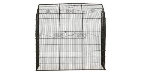 American wirework firescreen, ca. 1835, offered by Yew Tree House Antiques