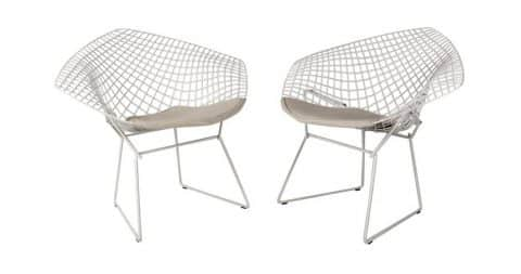 Harry Bertoia for Knoll Diamond lounge chairs, designed in 1952, produced 1990s, offered by Patina Decor