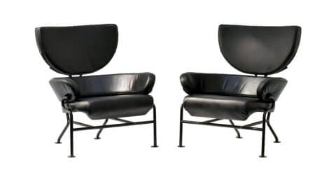 Franco Albini Tre Pezzi lounge chairs, 1959, offered by Ponce Berga