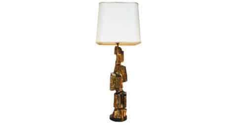 Maurizio Tempestini for Laurel Lamp Company brutalist table lamp, 1970s, offered by the Moderns