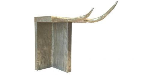 Rick Owens aluminium Stag T stool, offered by LMD/Studio