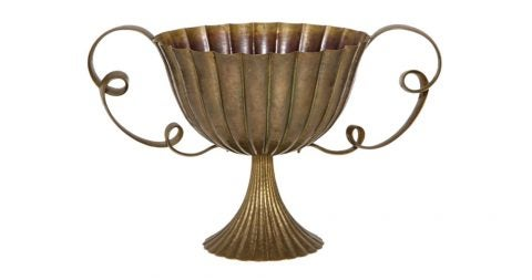 Josef Hoffmann two-handled brass coupe, 1925, offered by James Infante