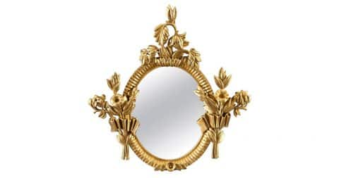 Dagobert Peche giltwood mirror, ca. 1922, offered by H.M. Luther, Inc.