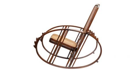 Josef Hoffmann Egg rocking chair, 1920s, offered by Il Valore Aggiunto