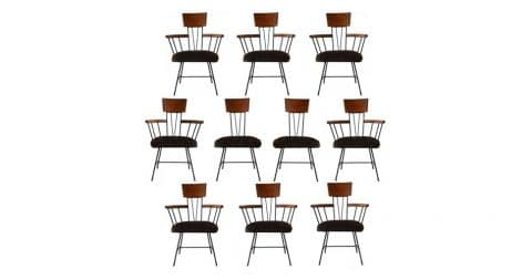 Paul McCobb dining chairs, ca. 1950s, offered by TAA Design Studio