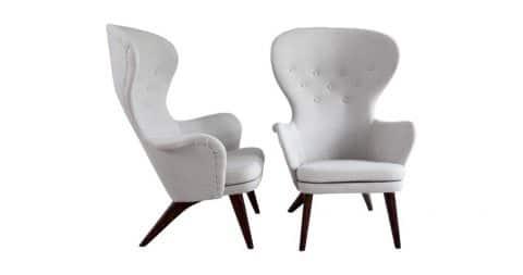 Carl-Gustav Hiort af Ornäs armchairs, 1950s, offered by Gallery Wernberg