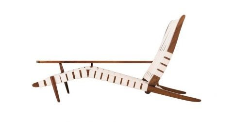 George Nakashima Long chair, 1968, offered by Converso