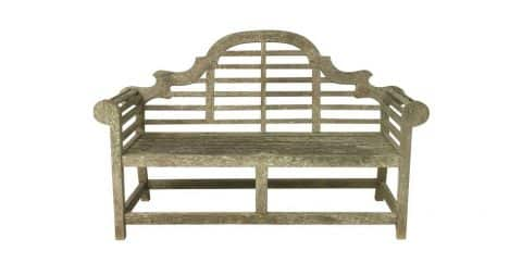 Lutyens-style garden bench, 20th century, offered by Antique Swan