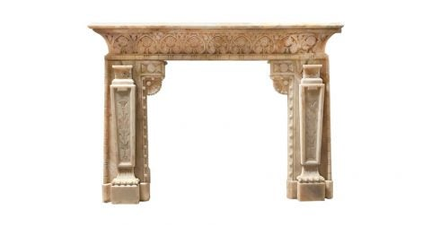 Honey onyx mantel, ca. 1850, offered by Pittet Architecturals