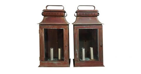 Wall lanterns, current production, offered by Joseph Malekan