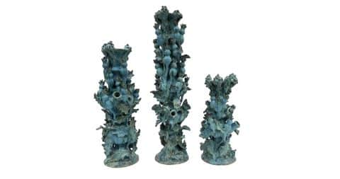 Matthew Solomon Thistle candlesticks, 2017, offered by Emily Summers Studio