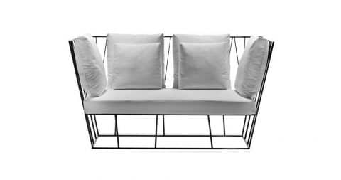 Lievore Altherr Molina for Driade Hervé outdoor sofa, new, offered by Duplex