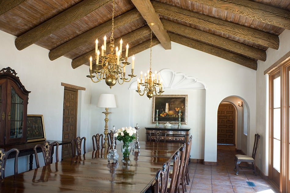 Dining room of 1940s ranch house in Jeff Davis County by Texas architect Michael Imber