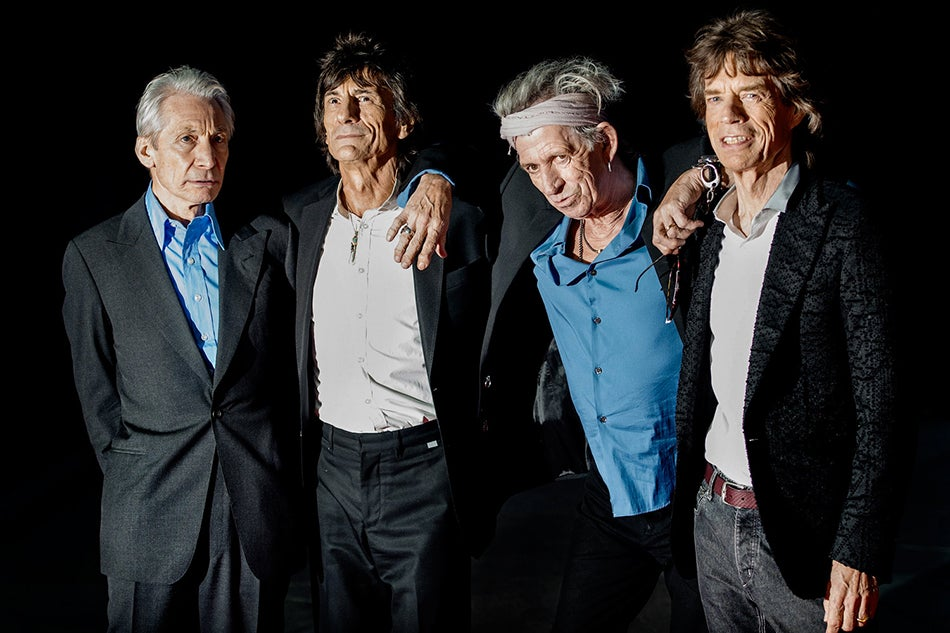 Rolling Stones portrait by British royal photographer Samir Hussein