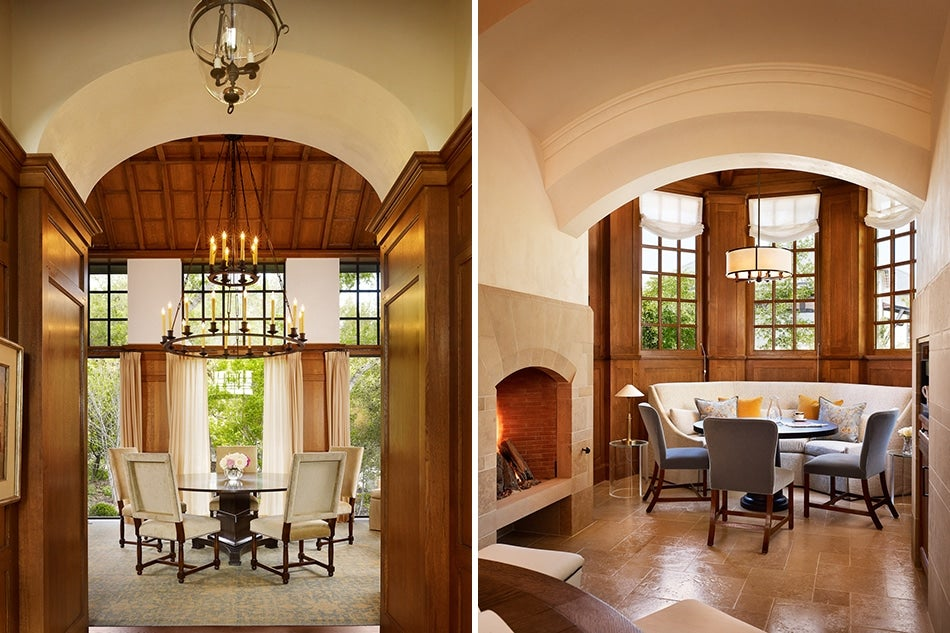 Dining room and breakfast room of San Antonio house by Texas architect Michael Imber