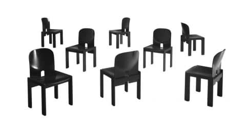 Afra and Tobia Scarpa for Cassina chairs, 1965, offered by Morentz