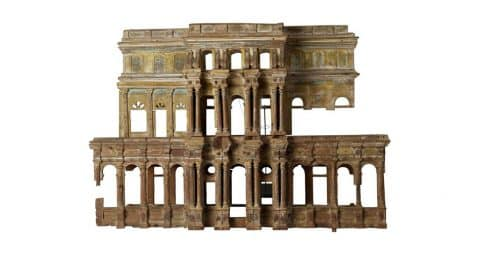 Model of an Indian temple with Greco-Latin influences, 18th century, offered by Galerie Epoca