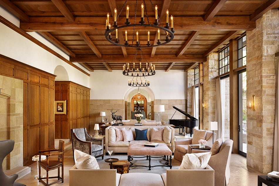 Living room of San Antonio house by Texas architect Michael Imber